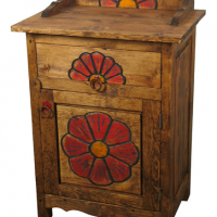 Painted Flower Nightstand