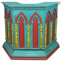 Painted Pulpit Maitre D' Stand
