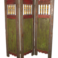 Painted Wood Screen