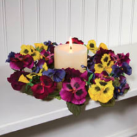 Pansy Flower Candle Ring