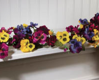 Pansy Flower Garland