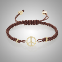 Peace Bracelet, brown