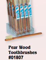 Pear Wood Toothbrushes