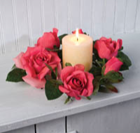 Pink Roses Candle Ring
