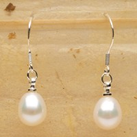 Pure Simplicity White Pearl Earrings