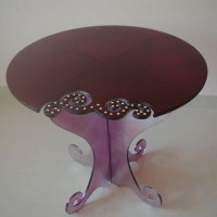Purple Glass Side Table