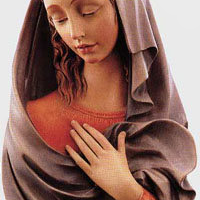 Relief Madonna Woodcarving