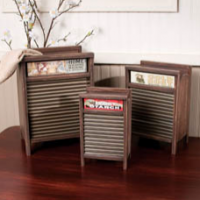 Repurposed Washboard Boxes
