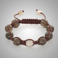 Rose Gold Smoky Quartz Bracelet