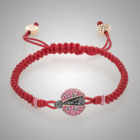 Ruby Lady Bug Bracelet