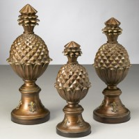Set of 3 Pineapple Finials