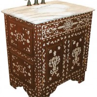 Shell Inlay Bathroom Vanity