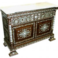 Shell Inlay Console Cabinet