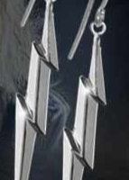 Silver Lightning Earrings