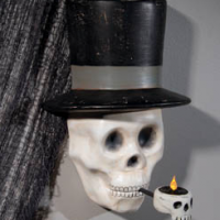 Skeleton Sconce with Tealight