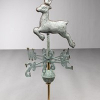 Small Deer Copper Weathervane