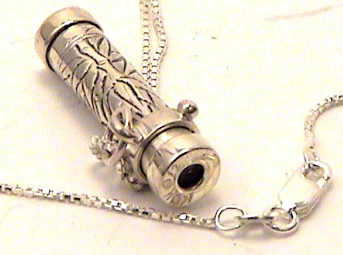 Sterling Silver Kaleidoscope Necklace, detail