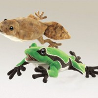 Tadpole & Frog Hand Puppets