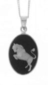 Taurus Cameo Horoscope Necklace