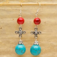 Turquoise Knot Earrings