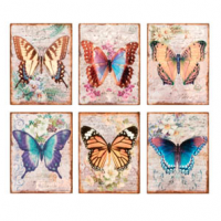Vintage Butterfly Sign
