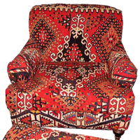 Vintage Kilim Club Chair