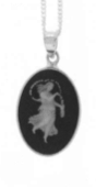 Virgo Cameo Horoscope Necklace