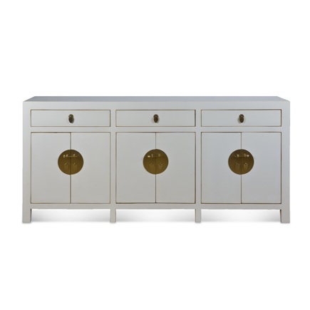 White Lacquer Buffet - White Lacquer Buffet Cottage Industry