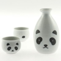 White Panda Saké Set