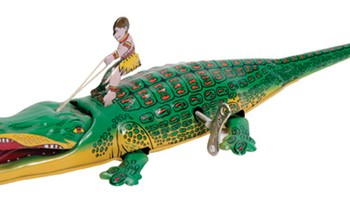 Wind-Up Crocodile Tin Toy