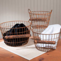 Wire Laundry Basket Set