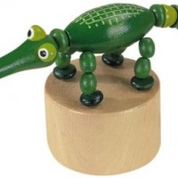 Wooden Alligator Press Puppet