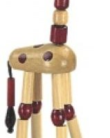 Wooden Giraffe Press Puppet