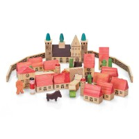 Wooden Village Blocks Set