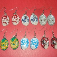 Wrestler Mask Earrings