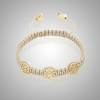 Yellow Gold Lotus Bracelet