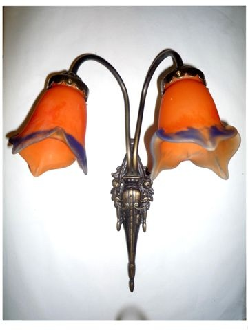 Afternoon Orange Art Nouveau Sconce