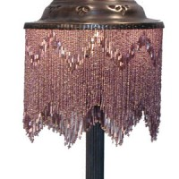 Beaded Brass Table Lamp
