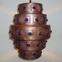 Blue Jewel Pendant Light