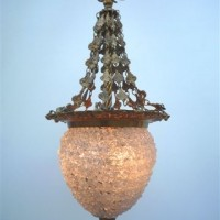 Clear Assisi Bronze Chandelier