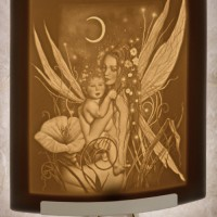 Crescent Moon Fairy Night Light