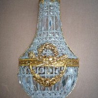 Empire Style Crystal Wall Sconce