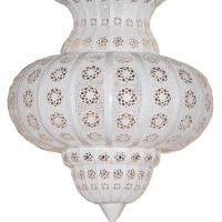 Floral Lace Hanging Lamp