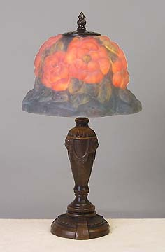 Frosted Poppy Glass Lamp