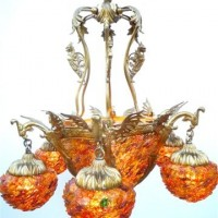 Golden Age Dragon Chandelier