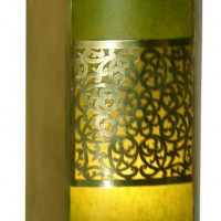 Green Brass Filigree Sconce