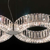 Infinite Loop Swarovski Crystal Chandelier