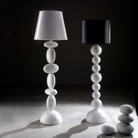 Italian Stacked Floor Lamp