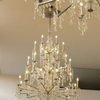 Large Crystal Rain Chandelier
