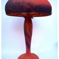 Large Iris Lamp, orange